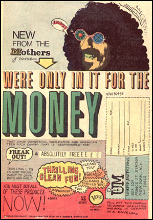 Frank Zappa We Re Only In It For The Money Zappa