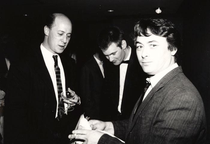 Simon (left) with Roger Shepherd and Doug Hood